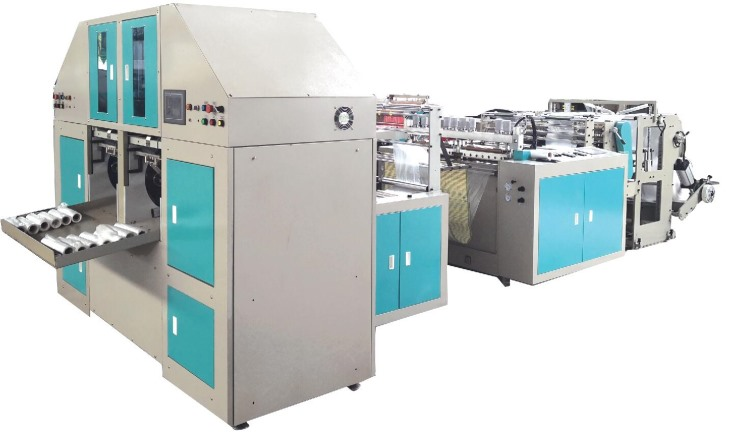 Automatic continuous roll bag machine